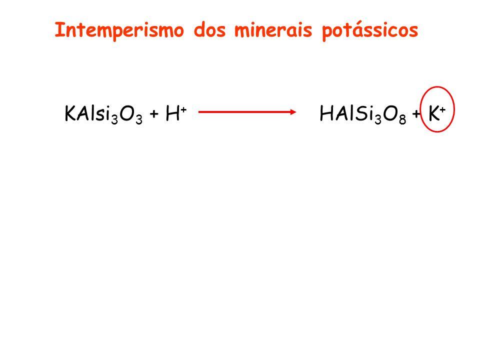 Intemperismo dos minerais potássicos