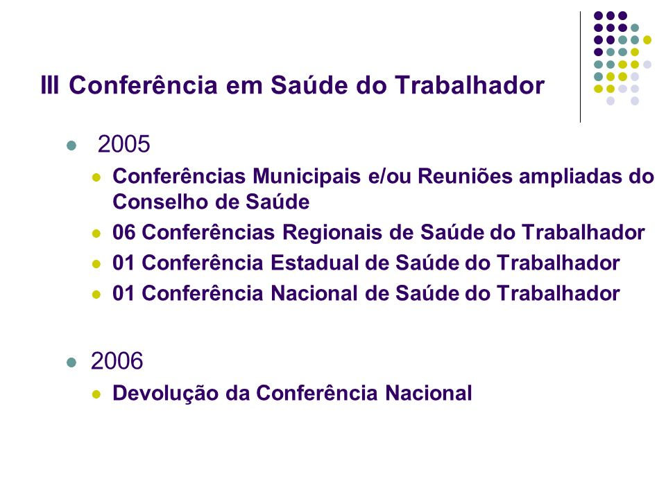 III Conferência em Saúde do Trabalhador