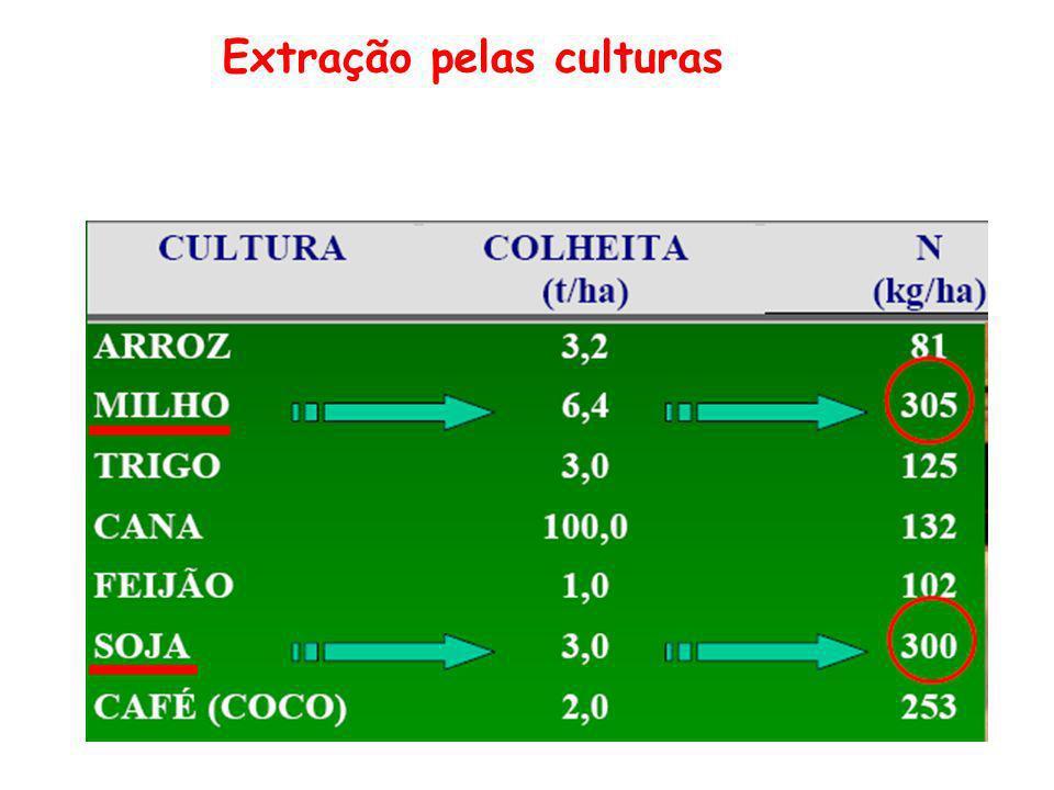 Extração pelas culturas
