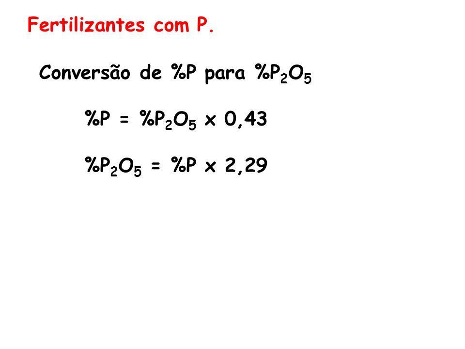 Conversão de %P para %P2O5