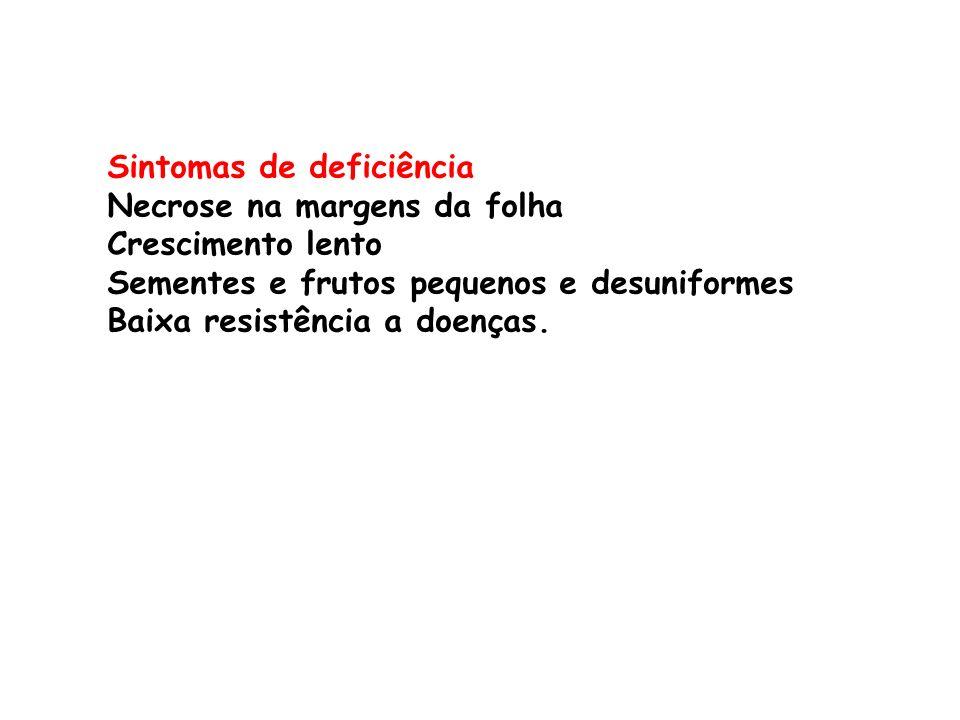 Sintomas de deficiência