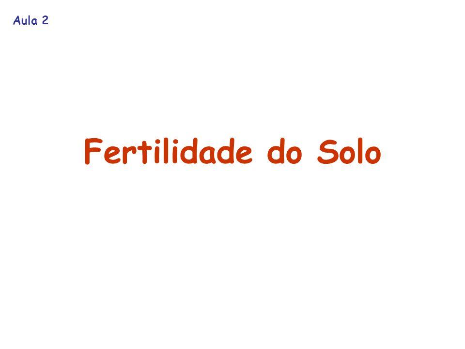 Aula 2 Fertilidade do Solo