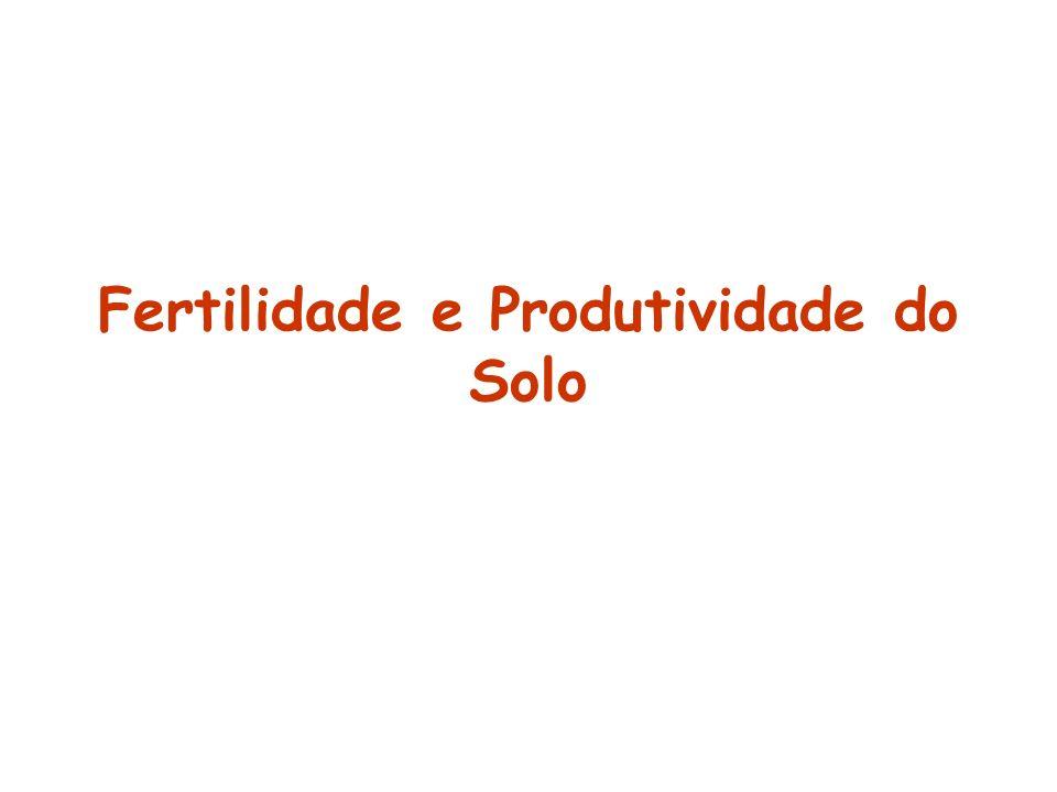 Fertilidade e Produtividade do Solo