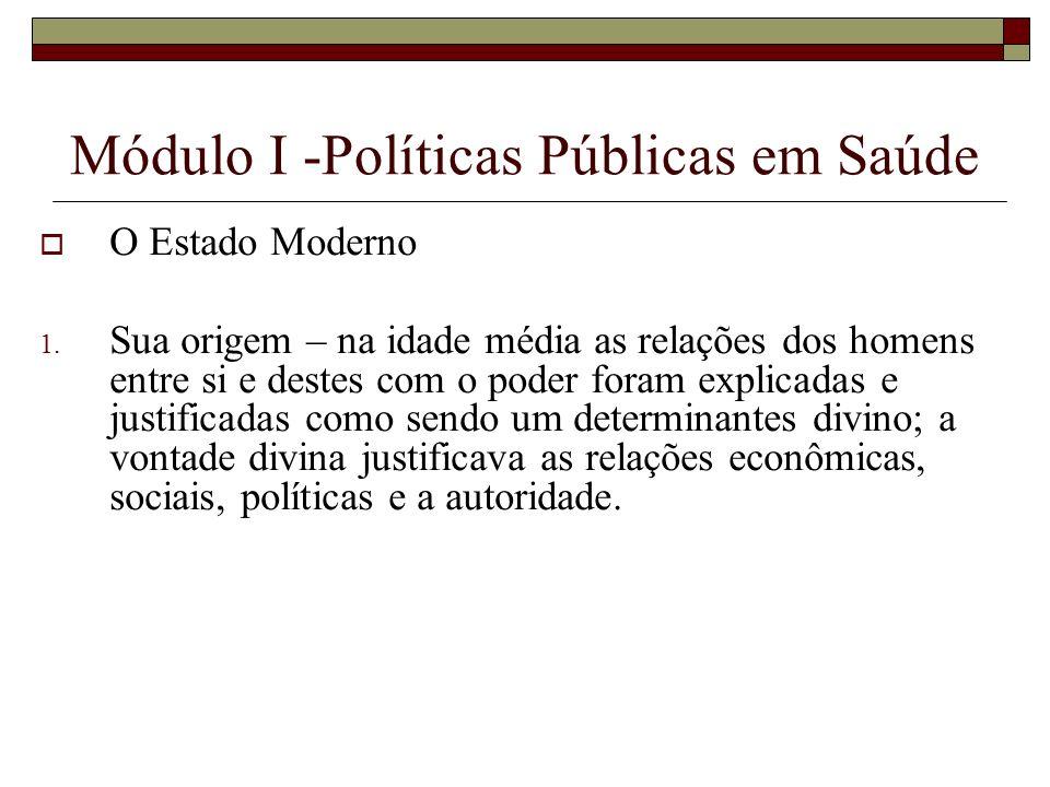 Módulo I -Políticas Públicas em Saúde
