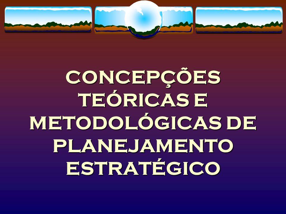 CONCEPÇÕES TEÓRICAS E METODOLÓGICAS DE PLANEJAMENTO ESTRATÉGICO