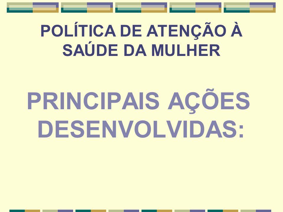POLÍTICA DE ATENÇÃO À SAÚDE DA MULHER
