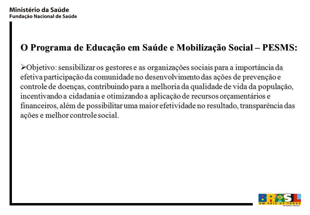 O Programa de Educação em Saúde e Mobilização Social – PESMS: