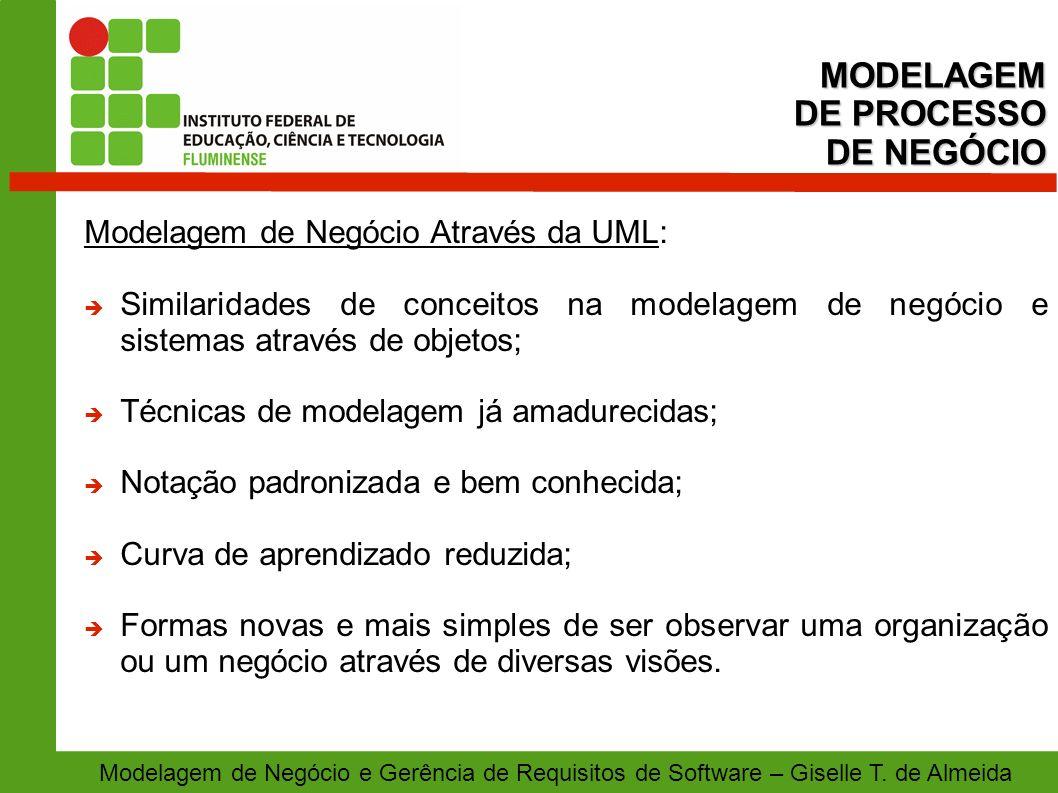 MODELAGEM DE PROCESSO DE NEGÓCIO Modelagem de Negócio Através da UML: