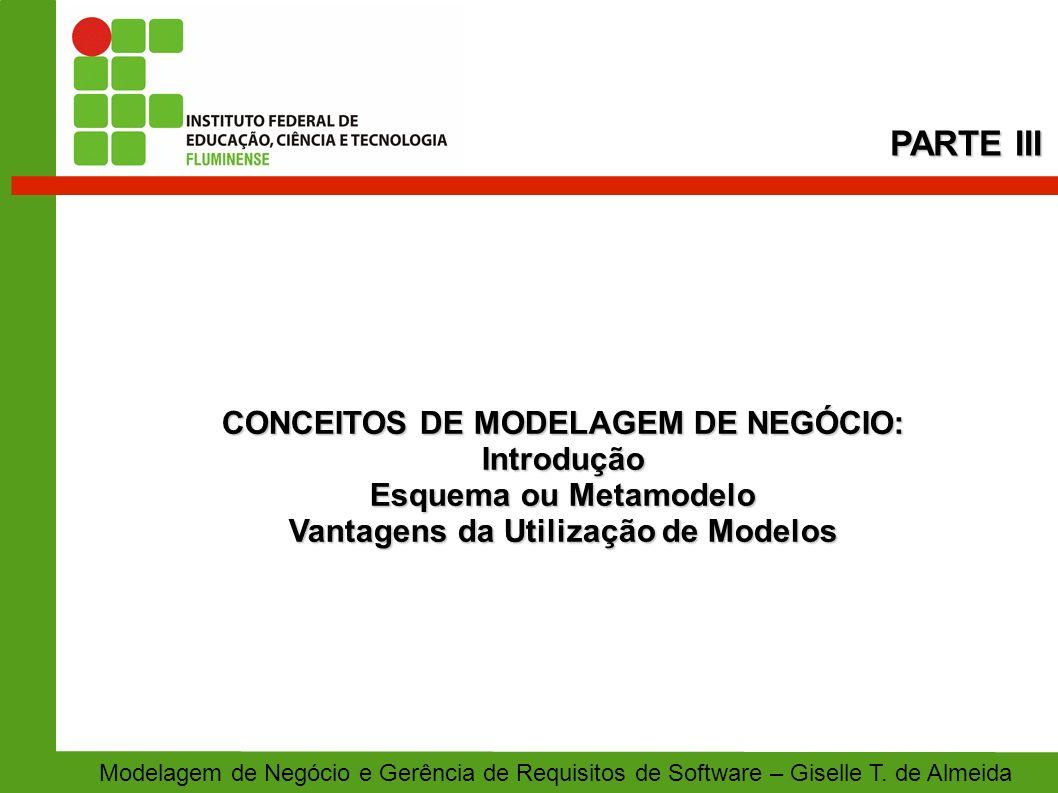 CONCEITOS DE MODELAGEM DE NEGÓCIO: Vantagens da Utilização de Modelos