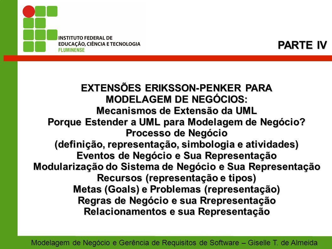 PARTE IV EXTENSÕES ERIKSSON-PENKER PARA MODELAGEM DE NEGÓCIOS: