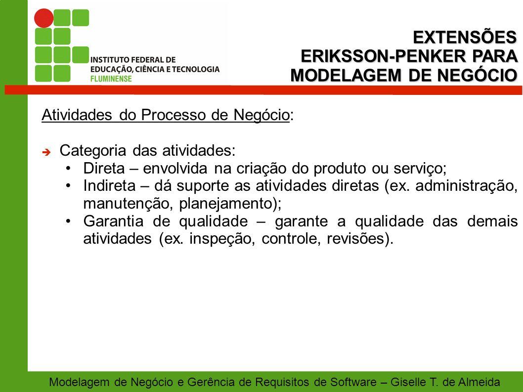 EXTENSÕES ERIKSSON-PENKER PARA MODELAGEM DE NEGÓCIO