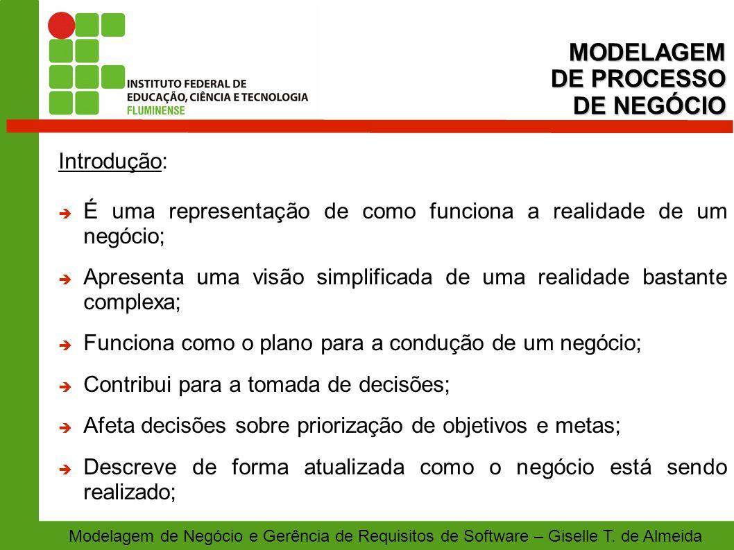 MODELAGEM DE PROCESSO DE NEGÓCIO Introdução: