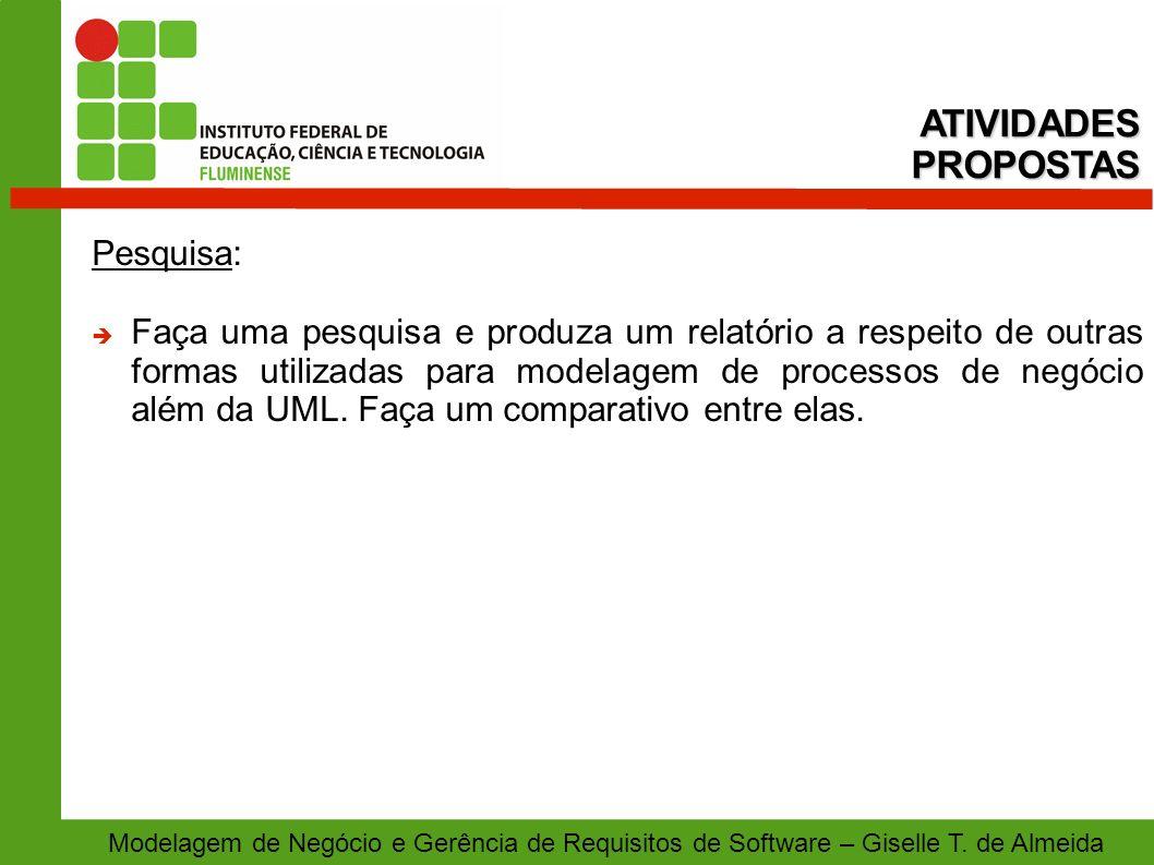 ATIVIDADES PROPOSTAS Pesquisa: