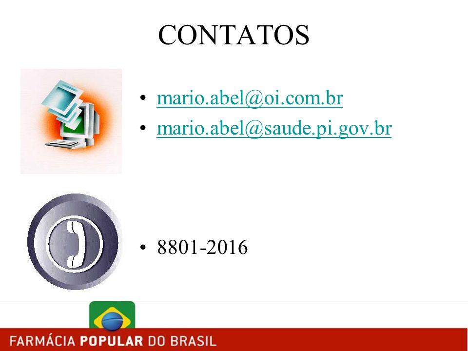 CONTATOS mario.abel@oi.com.br mario.abel@saude.pi.gov.br 8801-2016