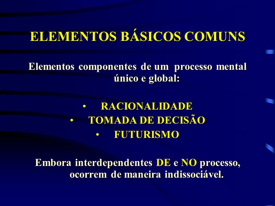 ELEMENTOS BÁSICOS COMUNS