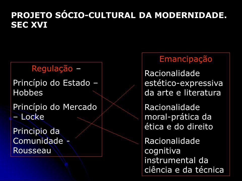 PROJETO SÓCIO-CULTURAL DA MODERNIDADE. SEC XVI
