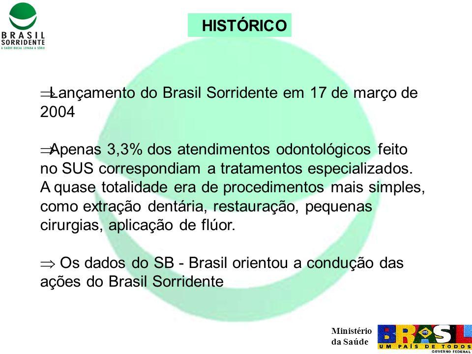 HISTÓRICO Lançamento do Brasil Sorridente em 17 de março de 2004.