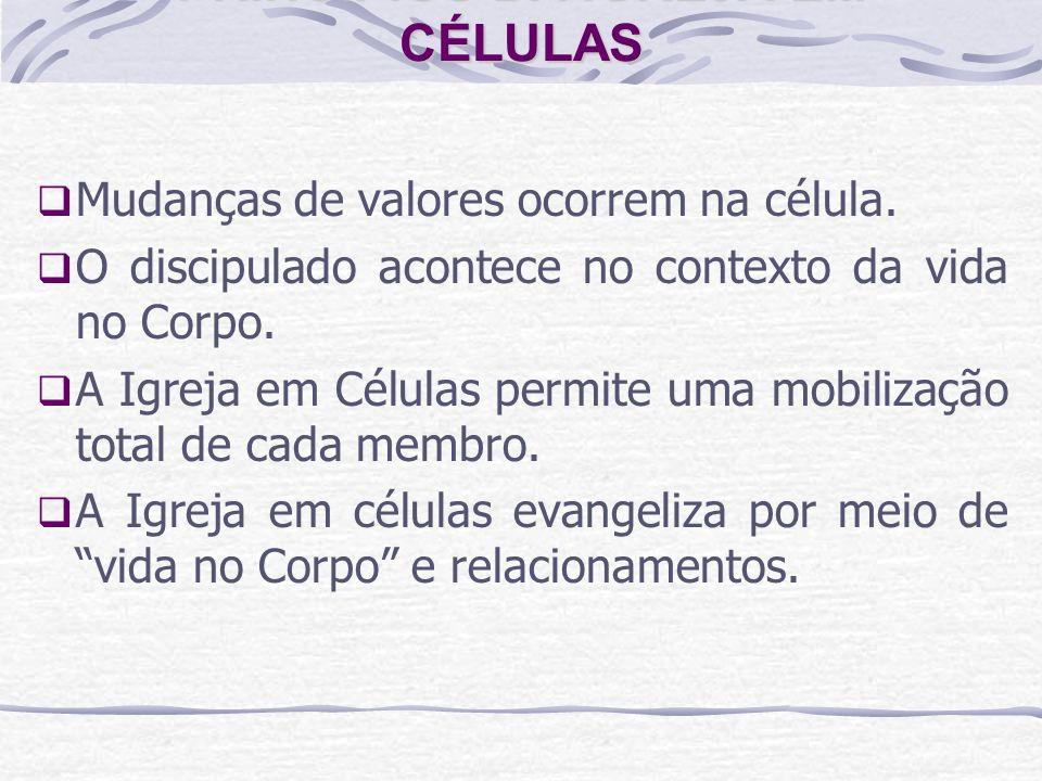 PRINCÍPIOS DA IGREJA EM CÉLULAS