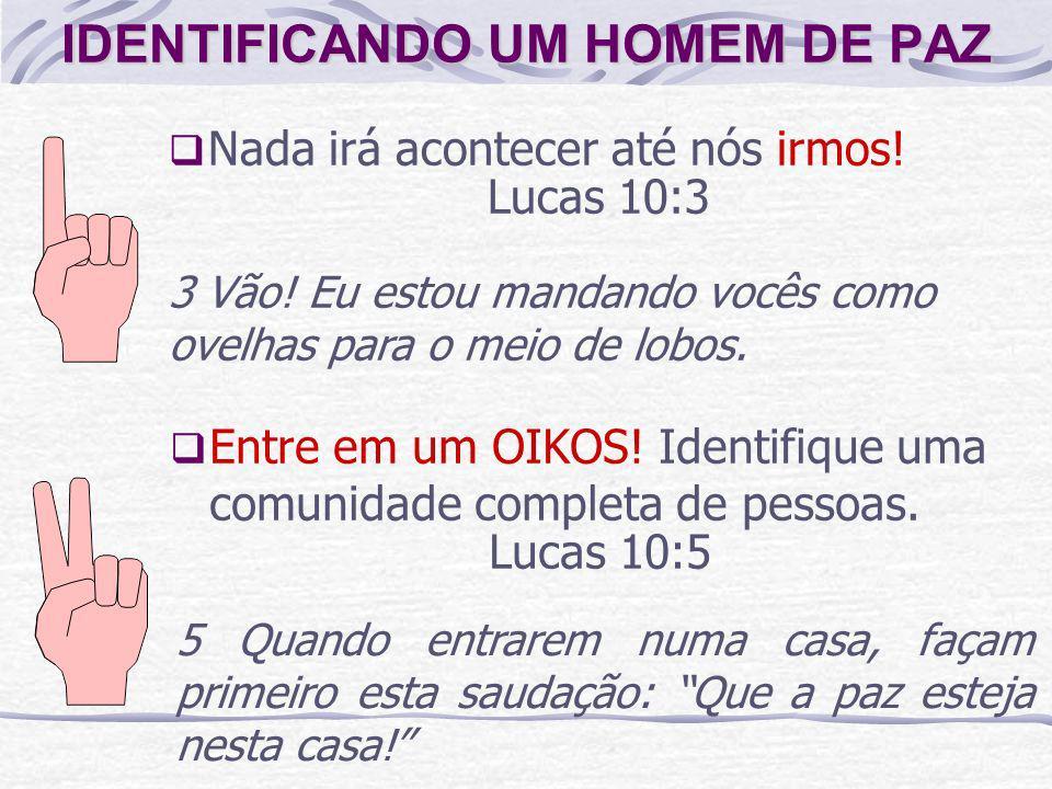 IDENTIFICANDO UM HOMEM DE PAZ