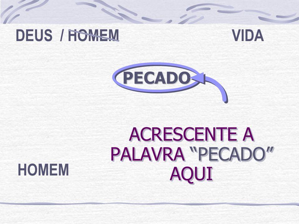 ACRESCENTE A PALAVRA PECADO AQUI