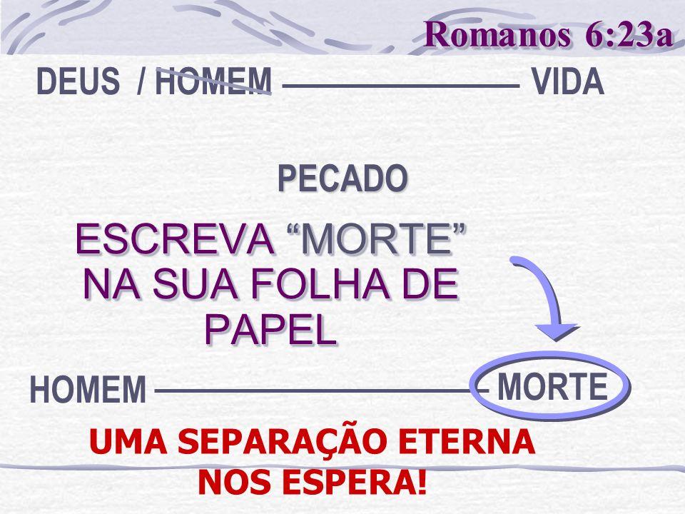 ESCREVA MORTE NA SUA FOLHA DE PAPEL