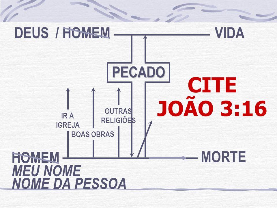 CITE JOÃO 3:16 MEU NOME NOME DA PESSOA HOMEM DEUS / HOMEM PECADO VIDA