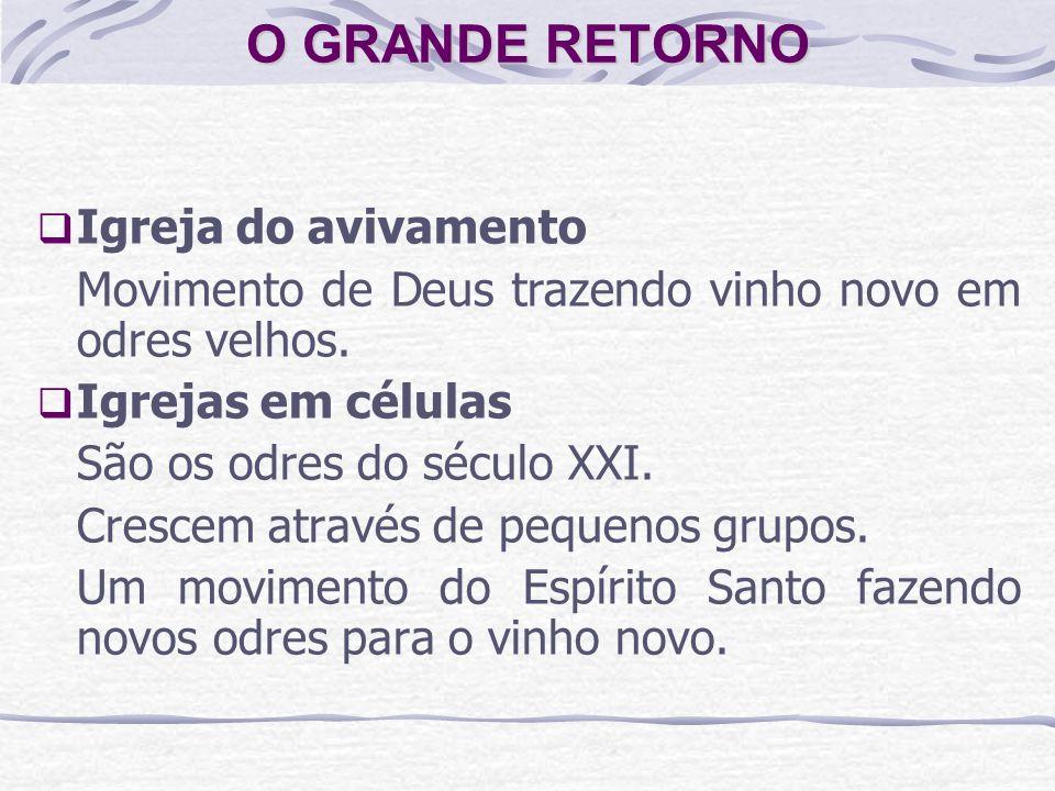 O GRANDE RETORNO Igreja do avivamento