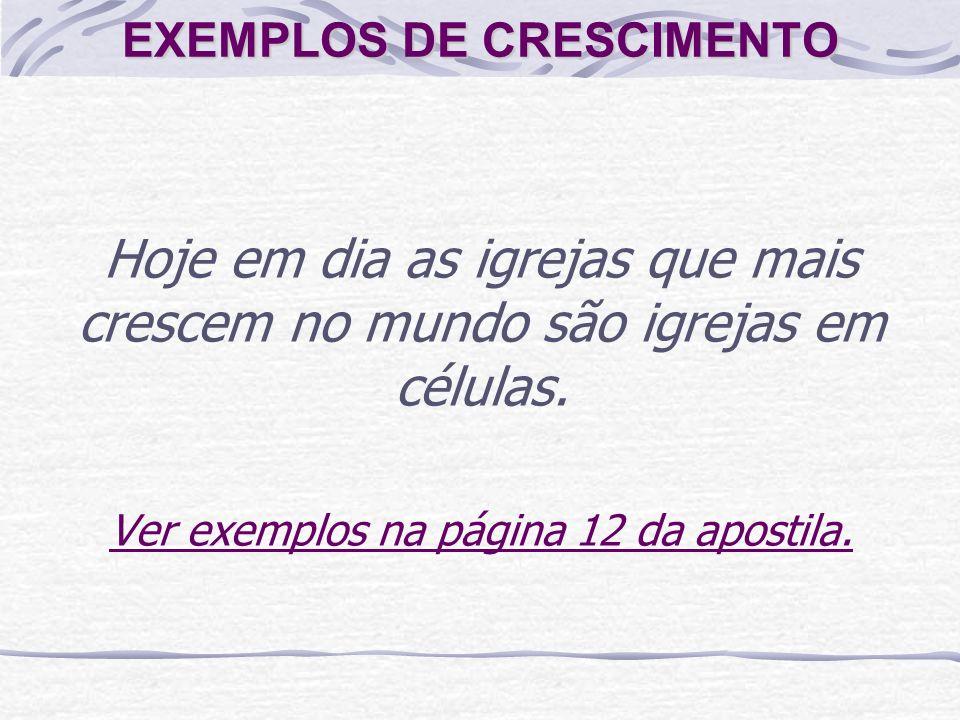 EXEMPLOS DE CRESCIMENTO