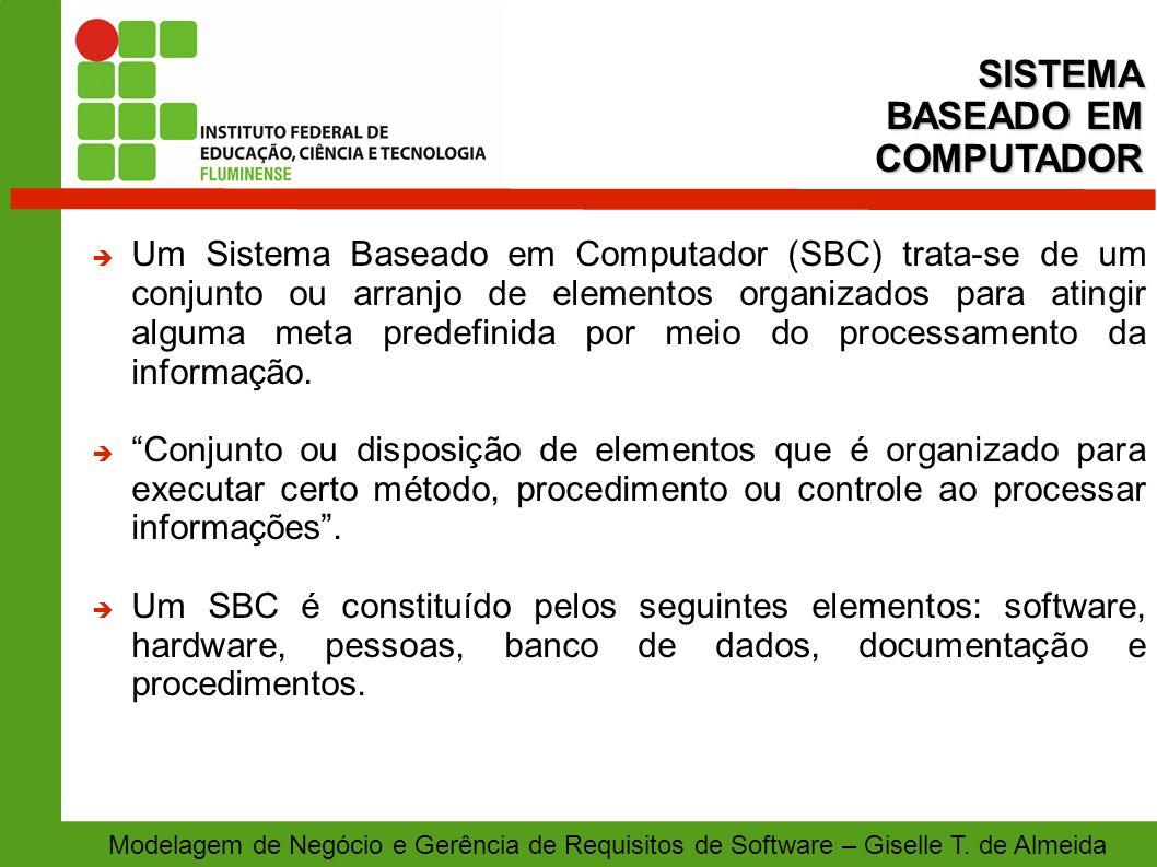 SISTEMA BASEADO EM COMPUTADOR