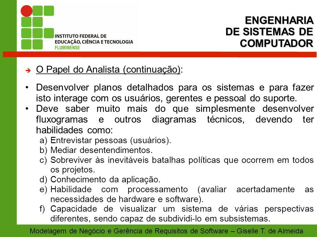 ENGENHARIA DE SISTEMAS DE COMPUTADOR