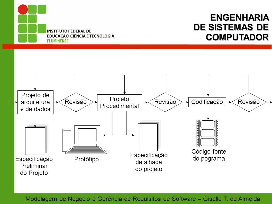 ENGENHARIA DE SISTEMAS DE COMPUTADOR Especificação Preliminar