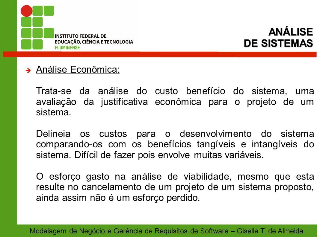 ANÁLISE DE SISTEMAS Análise Econômica: