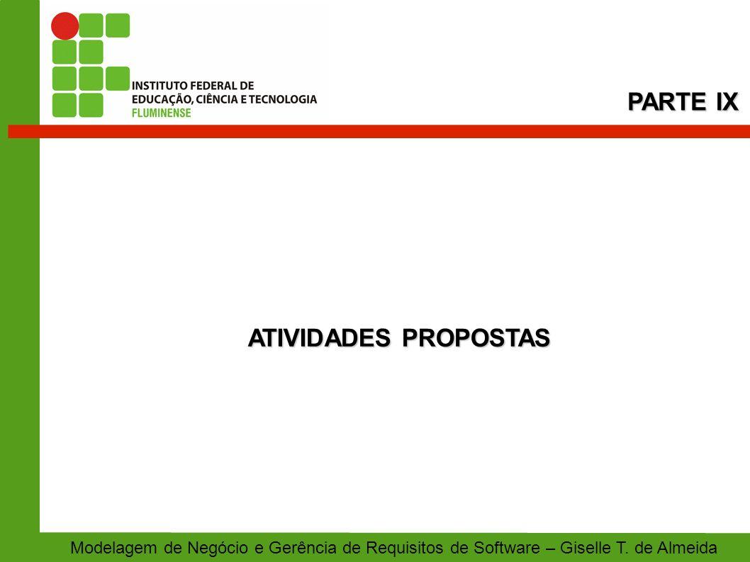 PARTE IX ATIVIDADES PROPOSTAS