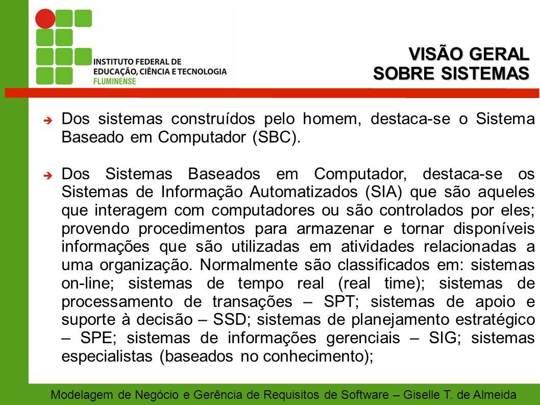 VISÃO GERAL SOBRE SISTEMAS
