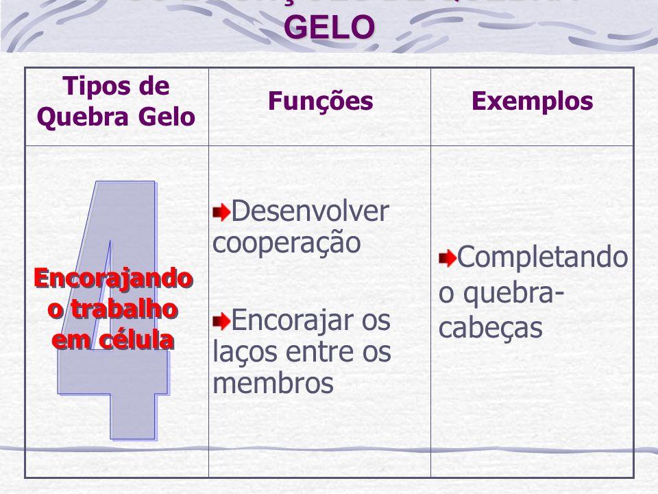TIPOS E FUNÇÕES DE QUEBRA-GELO