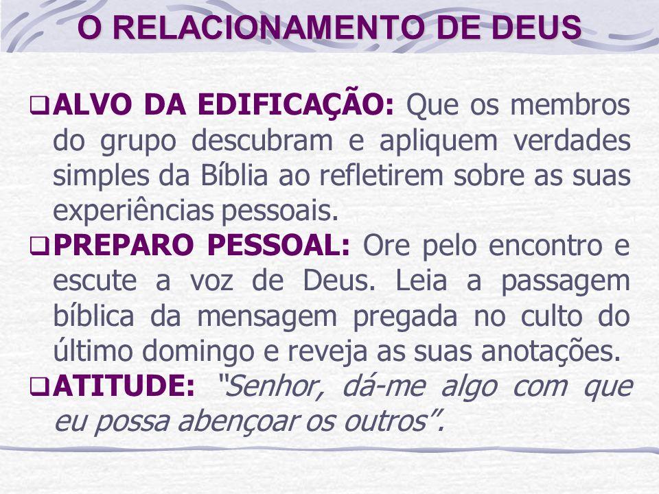 O RELACIONAMENTO DE DEUS