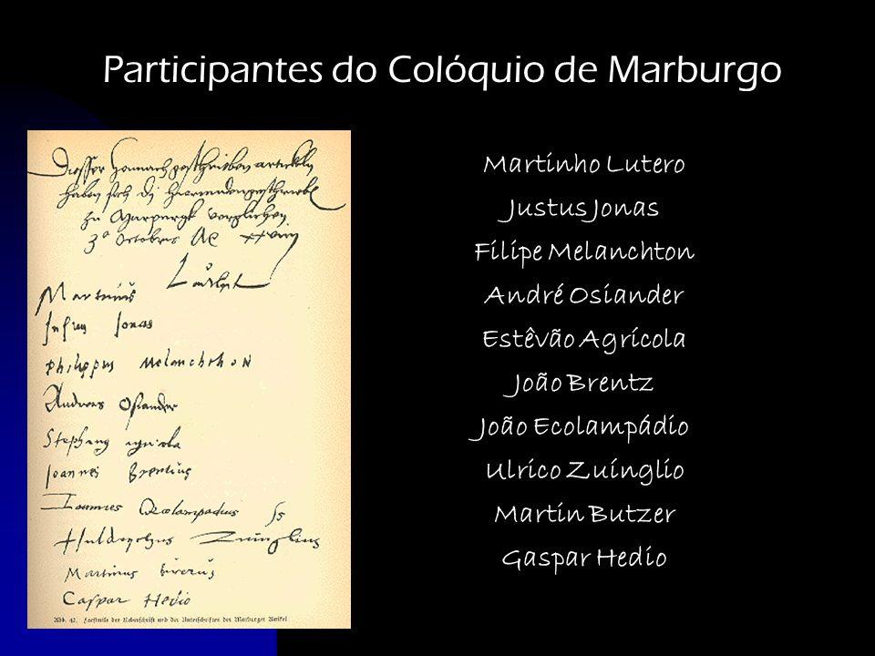 Participantes do Colóquio de Marburgo