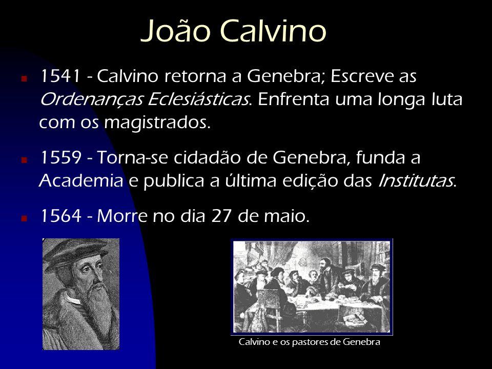 Calvino e os pastores de Genebra
