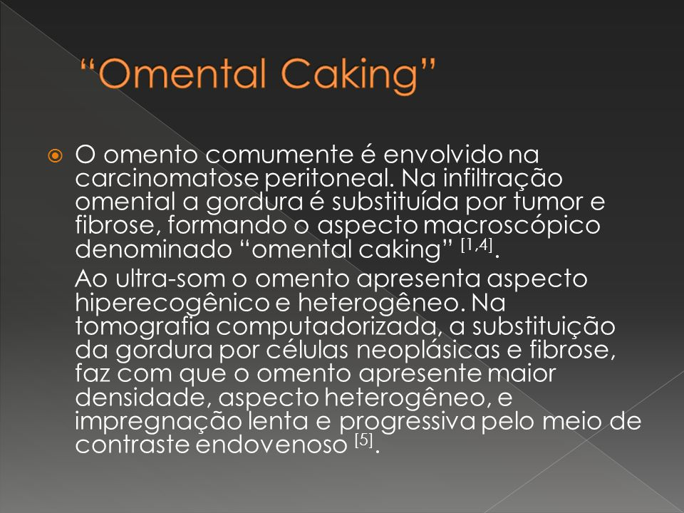 Omental Caking