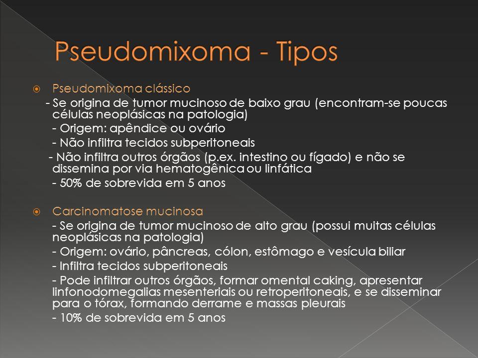 Pseudomixoma - Tipos Pseudomixoma clássico