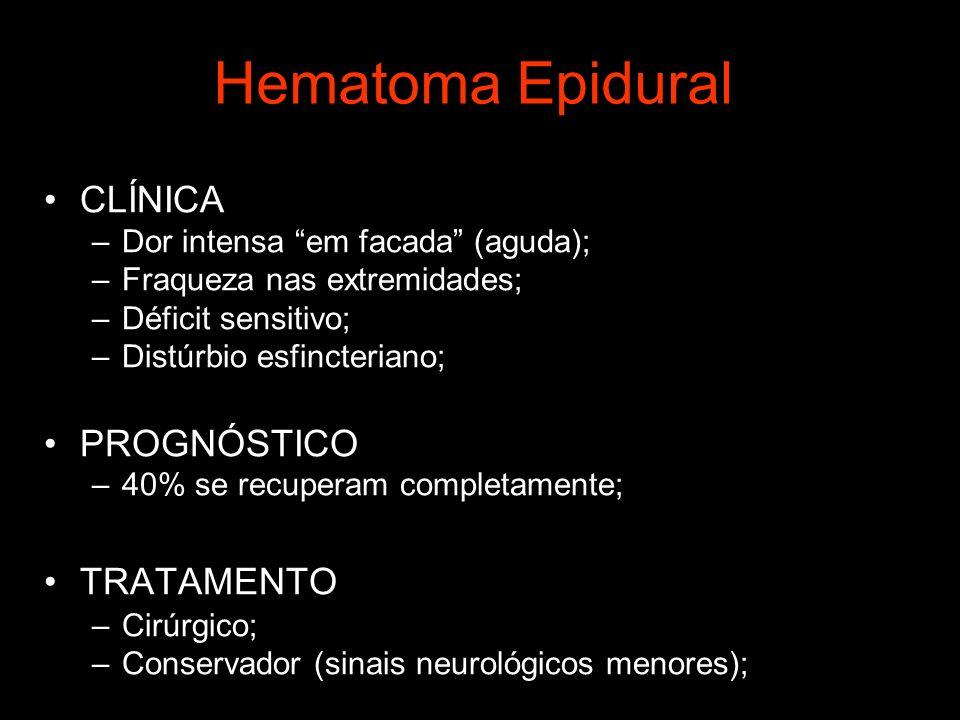 Hematoma Epidural CLÍNICA PROGNÓSTICO TRATAMENTO