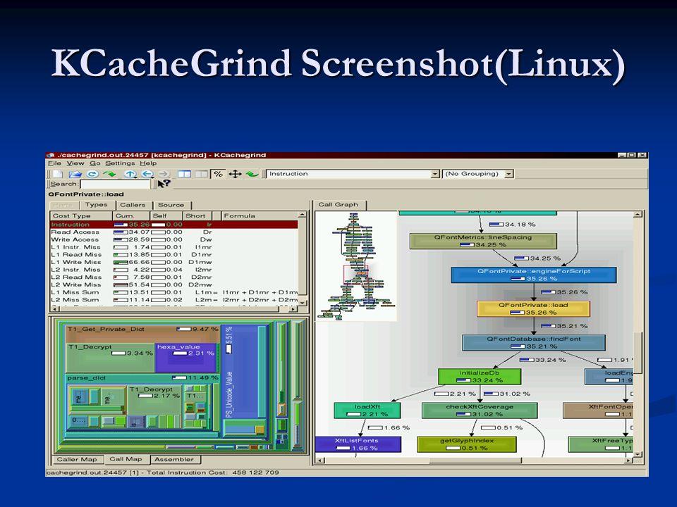 KCacheGrind Screenshot(Linux)