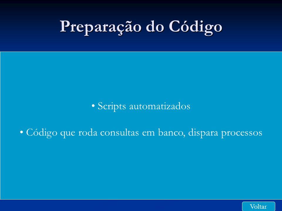 Preparação do Código Scripts automatizados
