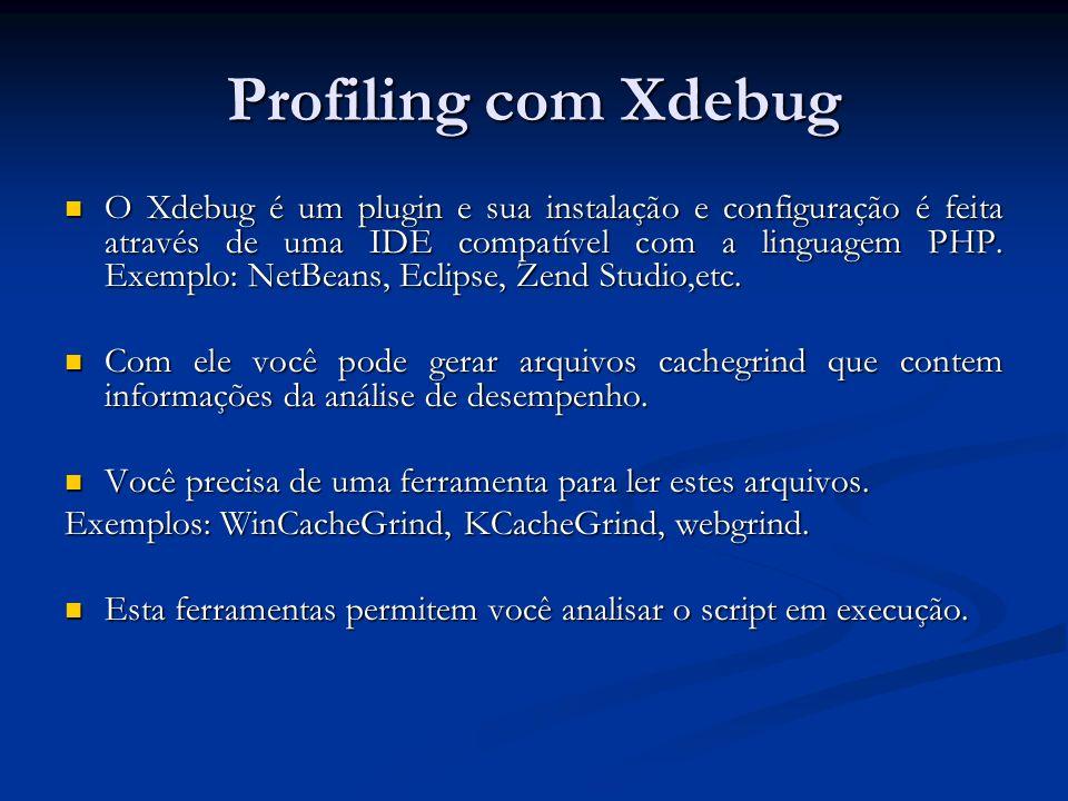 Profiling com Xdebug