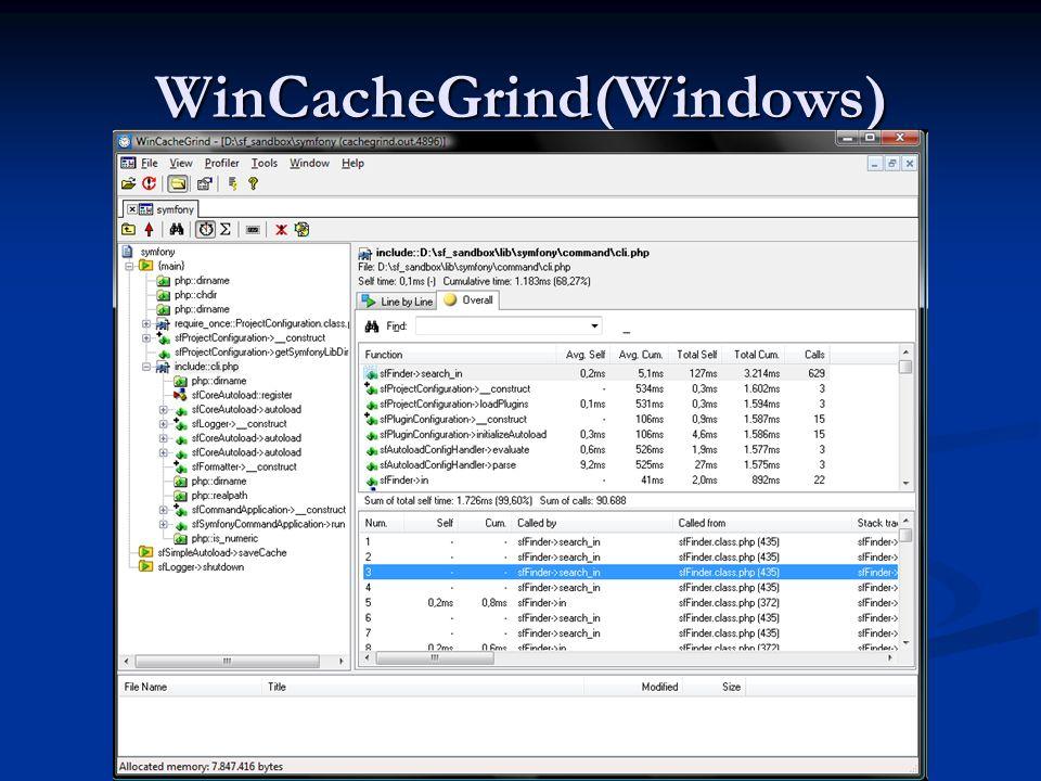 WinCacheGrind(Windows)