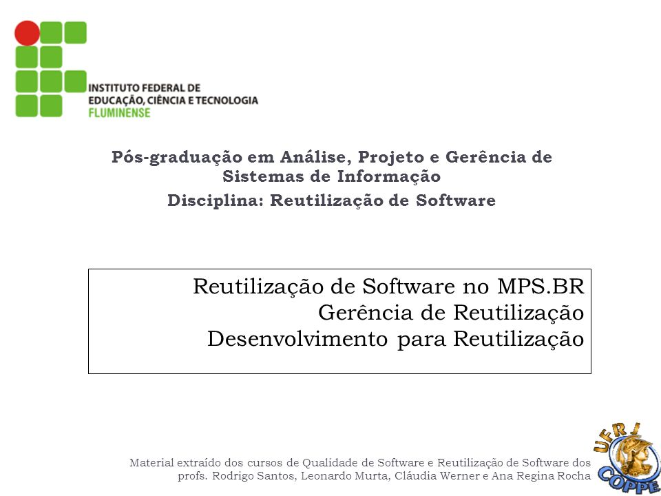 Pós-graduação em Análise, Projeto e Gerência de Sistemas de Informação