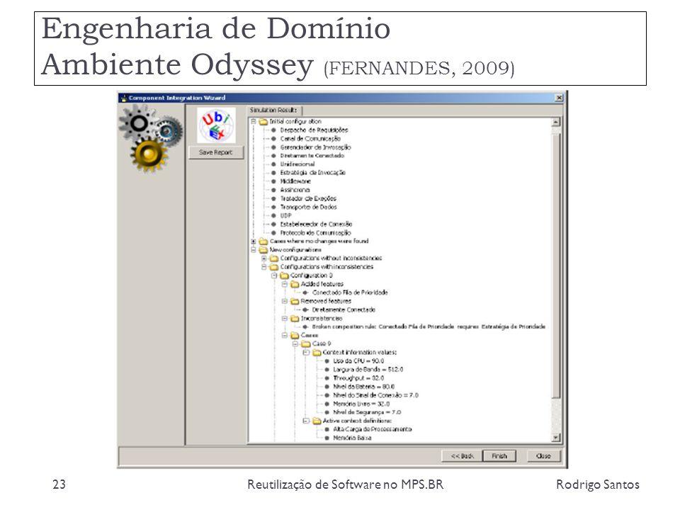 Engenharia de Domínio Ambiente Odyssey (FERNANDES, 2009)