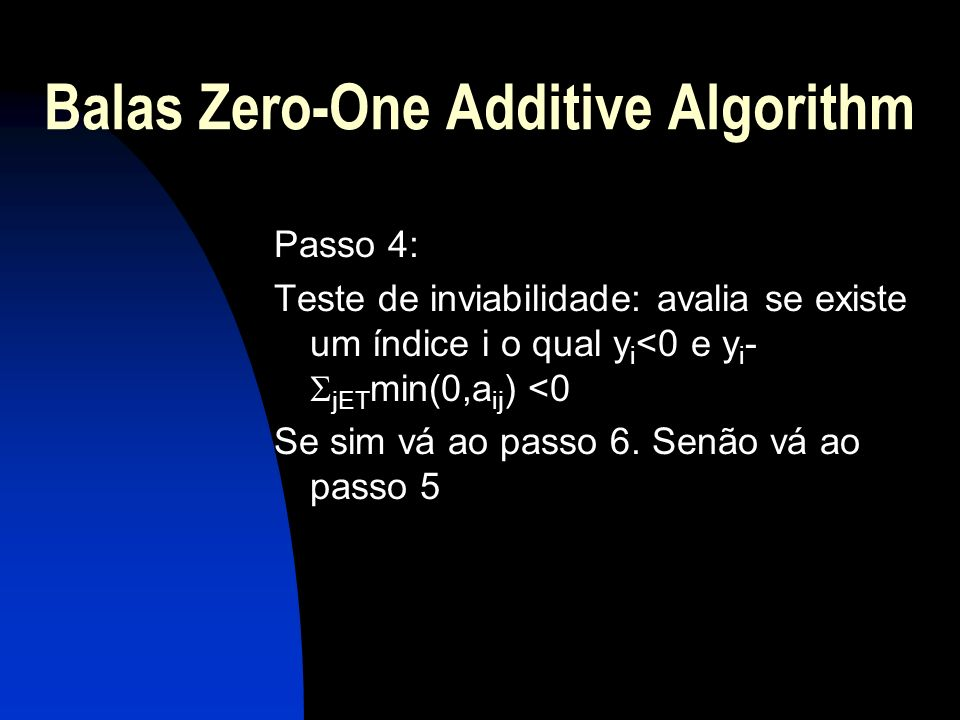 Balas Zero-One Additive Algorithm