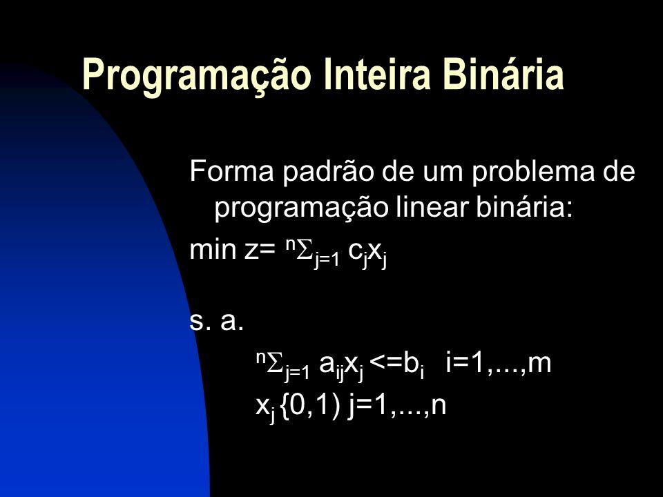 Programação Inteira Binária