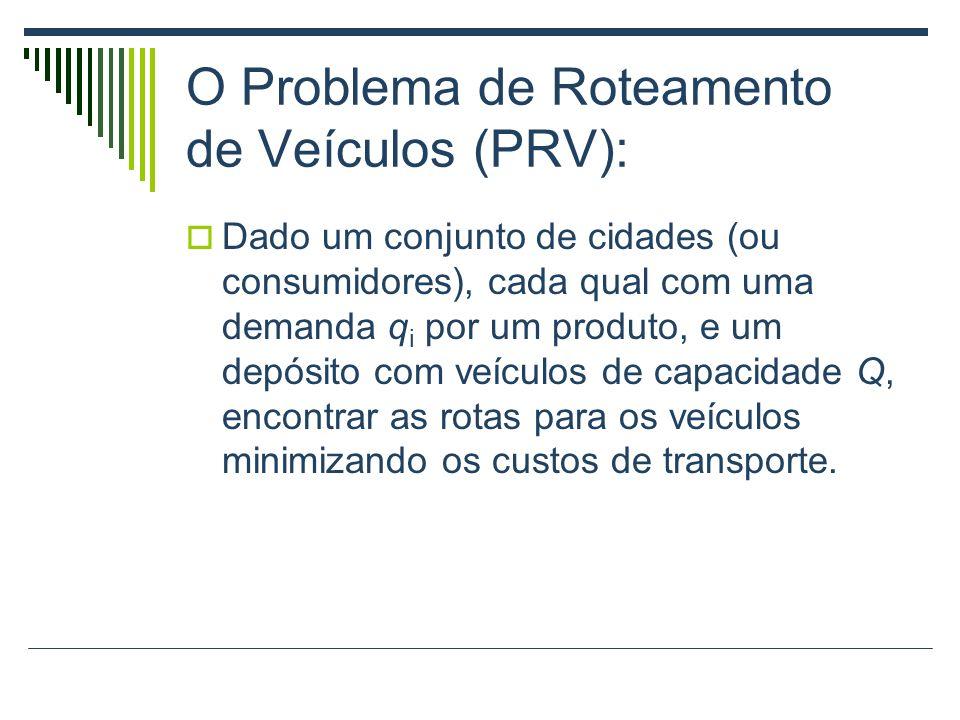 O Problema de Roteamento de Veículos (PRV):
